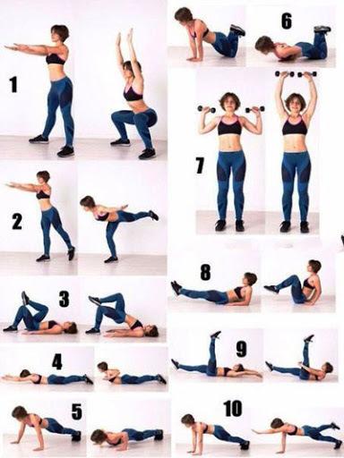группа упражнений для похудения с картинками штаб оснащён